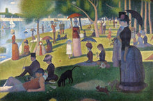 60109_C1_- titled 'Sunday Afternoon on the Island of Grande Jatte 1864' by artist Georges Seurat - Wall Art Print on Textured Fine Art Canvas or Paper - Digital Giclee reproduction of art painting. Red Sky Art is India's Online Art Gallery for Home Decor - S1615