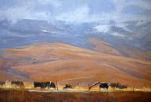 60110_C1_- titled 'North Powder Cows' by artist Todd Telander - Wall Art Print on Textured Fine Art Canvas or Paper - Digital Giclee reproduction of art painting. Red Sky Art is India's Online Art Gallery for Home Decor - T1642