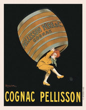 60203_C1_- titled 'Cognac Pellisson' by artist Vintage Posters - Wall Art Print on Textured Fine Art Canvas or Paper - Digital Giclee reproduction of art painting. Red Sky Art is India's Online Art Gallery for Home Decor - V395