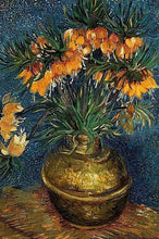 60207_C1_- titled 'Crown Imperial Fritillaries in a Copper Vase, 1886' by artist Vincent van Gogh - Wall Art Print on Textured Fine Art Canvas or Paper - Digital Giclee reproduction of art painting. Red Sky Art is India's Online Art Gallery for Home Decor - V432