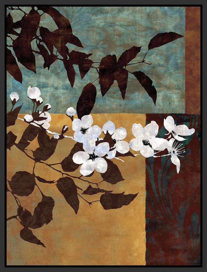222101_FB1 'Spring Blossoms I' by artist Keith Mallett - Wall Art Print on Textured Fine Art Canvas or Paper - Digital Giclee reproduction of art painting. Red Sky Art is India's Online Art Gallery for Home Decor - 111_12730
