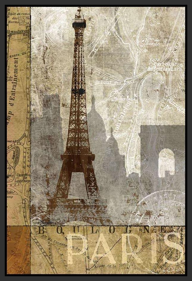 222111_FB1 'April in Paris' by artist Keith Mallett - Wall Art Print on Textured Fine Art Canvas or Paper - Digital Giclee reproduction of art painting. Red Sky Art is India's Online Art Gallery for Home Decor - 111_16061