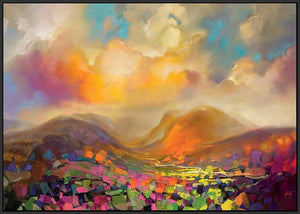 45115_FB1 - titled 'Nevis Range Colour' by artist Scott Naismith - Wall Art Print on Textured Fine Art Canvas or Paper - Digital Giclee reproduction of art painting. Red Sky Art is India's Online Art Gallery for Home Decor - 55_WDC96317