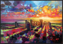 45129_FB1 - titled 'Stonehenge Equinox' by artist Scott Naismith - Wall Art Print on Textured Fine Art Canvas or Paper - Digital Giclee reproduction of art painting. Red Sky Art is India's Online Art Gallery for Home Decor - 55_WDC96373