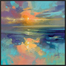 45137_FB1 - titled 'Cerulean Cyan Study' by artist Scott Naismith - Wall Art Print on Textured Fine Art Canvas or Paper - Digital Giclee reproduction of art painting. Red Sky Art is India's Online Art Gallery for Home Decor - 55_WDC98169