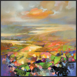 45139_FB1 - titled 'Highland Terrain' by artist Scott Naismith - Wall Art Print on Textured Fine Art Canvas or Paper - Digital Giclee reproduction of art painting. Red Sky Art is India's Online Art Gallery for Home Decor - 55_WDC98172