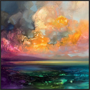 45159_FB1 - titled 'Isle of Jura Emerges' by artist Scott Naismith - Wall Art Print on Textured Fine Art Canvas or Paper - Digital Giclee reproduction of art painting. Red Sky Art is India's Online Art Gallery for Home Decor - 55_WDC98245