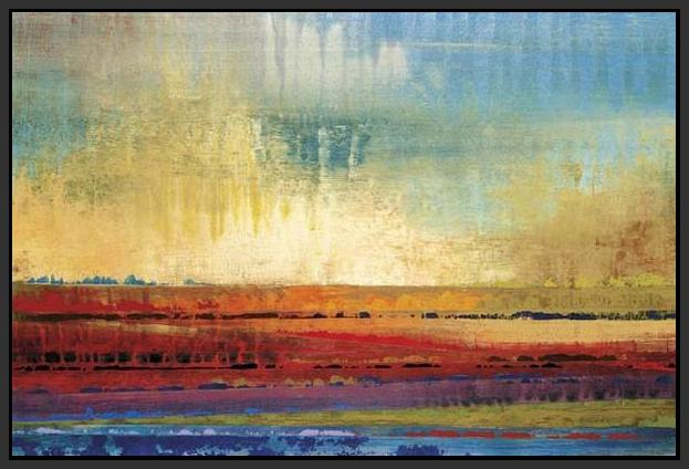 34602_FB1_- titled 'Horizons I' by artist Selina Rodriguez - Wall Art Print on Textured Fine Art Canvas or Paper - Digital Giclee reproduction of art painting. Red Sky Art is India's Online Art Gallery for Home Decor - 761_TR13564
