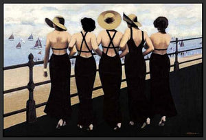76004_FB1_- titled 'Afternoon on the Boardwalk' by artist  Jacqueline Osborn - Wall Art Print on Textured Fine Art Canvas or Paper - Digital Giclee reproduction of art painting. Red Sky Art is India's Online Art Gallery for Home Decor - 761_TR3885
