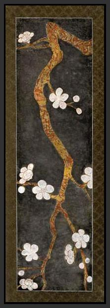 34469_FB1_- titled 'Cherry Blossom Branch I' by artist Erin Galvez - Wall Art Print on Textured Fine Art Canvas or Paper - Digital Giclee reproduction of art painting. Red Sky Art is India's Online Art Gallery for Home Decor - 761_TR4017