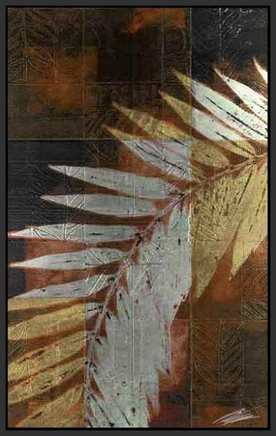 34671_FB1_- titled 'Palm Frond 1' by artist John Butler - Wall Art Print on Textured Fine Art Canvas or Paper - Digital Giclee reproduction of art painting. Red Sky Art is India's Online Art Gallery for Home Decor - 761_TR4047