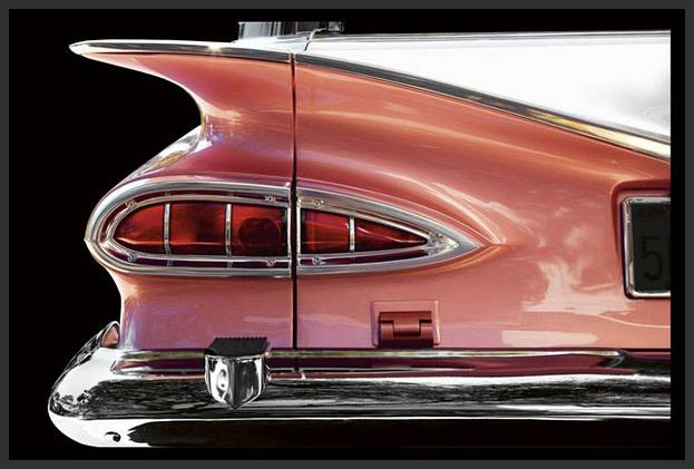 76010_FB1_- titled 'Classics Chevrolet 1959' by artist Kenneth Gregg - Wall Art Print on Textured Fine Art Canvas or Paper - Digital Giclee reproduction of art painting. Red Sky Art is India's Online Art Gallery for Home Decor - 761_TR7591