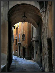 34760_FB1_- titled 'Siena Alley I' by artist Jim Chamberlain - Wall Art Print on Textured Fine Art Canvas or Paper - Digital Giclee reproduction of art painting. Red Sky Art is India's Online Art Gallery for Home Decor - 761_TR8929