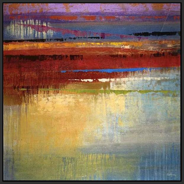 35030_FB1_- titled 'City Colors I' by artist Selina Rodriguez - Wall Art Print on Textured Fine Art Canvas or Paper - Digital Giclee reproduction of art painting. Red Sky Art is India's Online Art Gallery for Home Decor - 762_TR36618