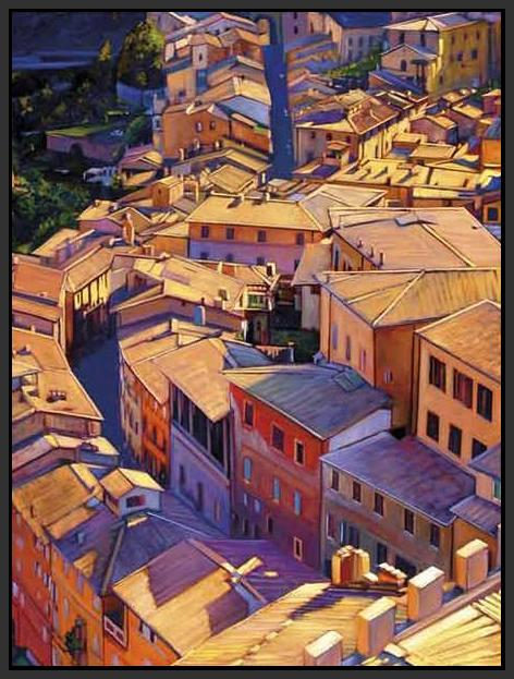 35128_FB1_- titled 'Above Siena' by artist Tom Swimm - Wall Art Print on Textured Fine Art Canvas or Paper - Digital Giclee reproduction of art painting. Red Sky Art is India's Online Art Gallery for Home Decor - 762_TR18599