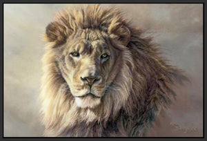 60101_FB1_- titled 'His Majesty' by artist Kalon Baughan - Wall Art Print on Textured Fine Art Canvas or Paper - Digital Giclee reproduction of art painting. Red Sky Art is India's Online Art Gallery for Home Decor - B2055