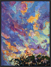60118_FB1_- titled 'California Sky (top left)' by artist Erin Hanson - Wall Art Print on Textured Fine Art Canvas or Paper - Digital Giclee reproduction of art painting. Red Sky Art is India's Online Art Gallery for Home Decor - H2817