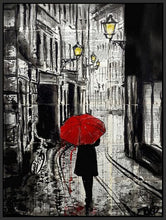 60124_FB1_- titled 'The Delightful Walk' by artist Loui Jover - Wall Art Print on Textured Fine Art Canvas or Paper - Digital Giclee reproduction of art painting. Red Sky Art is India's Online Art Gallery for Home Decor - J885