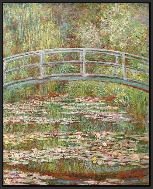 60200_FB1_- titled 'Water Lily Pond, 1899 ' by artist  Claude Monet - Wall Art Print on Textured Fine Art Canvas or Paper - Digital Giclee reproduction of art painting. Red Sky Art is India's Online Art Gallery for Home Decor - M2031