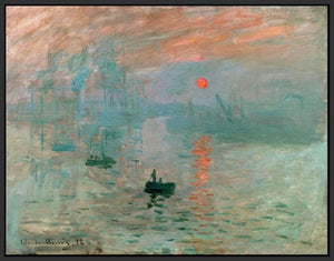 60201_FB1_- titled 'Impression, Sunrise ' by artist  Claude Monet - Wall Art Print on Textured Fine Art Canvas or Paper - Digital Giclee reproduction of art painting. Red Sky Art is India's Online Art Gallery for Home Decor - M2037