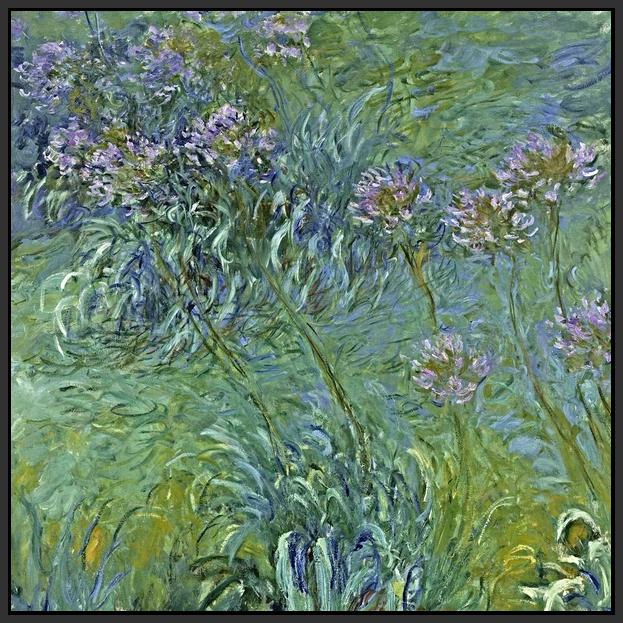 60164_FB1_- titled 'Jewelry Lilies ' by artist  Claude Monet - Wall Art Print on Textured Fine Art Canvas or Paper - Digital Giclee reproduction of art painting. Red Sky Art is India's Online Art Gallery for Home Decor - M2061