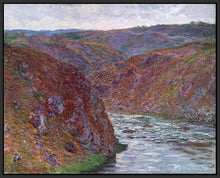60174_FB1_- titled 'Valley of the Creuse (Gray Day), 1889 ' by artist  Claude Monet - Wall Art Print on Textured Fine Art Canvas or Paper - Digital Giclee reproduction of art painting. Red Sky Art is India's Online Art Gallery for Home Decor - M2605