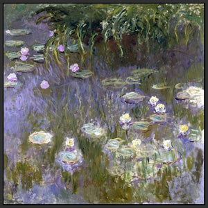 60030_FB1_- titled 'Water Lilies, 1922 ' by artist  Claude Monet - Wall Art Print on Textured Fine Art Canvas or Paper - Digital Giclee reproduction of art painting. Red Sky Art is India's Online Art Gallery for Home Decor - M3061