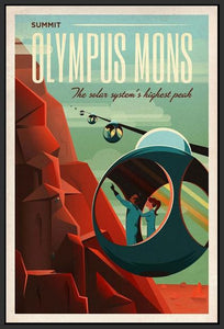 60097_FB1_- titled 'Space X Mars Tourism Poster for Olympus Mons' by artist Vintage Reproduction - Wall Art Print on Textured Fine Art Canvas or Paper - Digital Giclee reproduction of art painting. Red Sky Art is India's Online Art Gallery for Home Decor - V1842