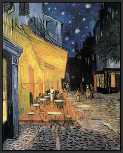 60204_FB1_- titled 'Cafe Terrace at Night' by artist Vincent van Gogh - Wall Art Print on Textured Fine Art Canvas or Paper - Digital Giclee reproduction of art painting. Red Sky Art is India's Online Art Gallery for Home Decor - V207