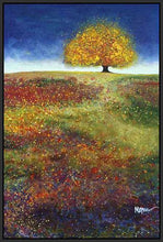34513_FB2_- titled 'Dreaming Tree In The Field' by artist Melissa Graves-Brown - Wall Art Print on Textured Fine Art Canvas or Paper - Digital Giclee reproduction of art painting. Red Sky Art is India's Online Art Gallery for Home Decor - 761_TR15463