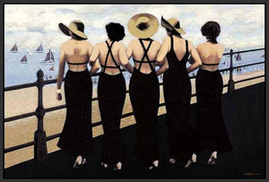 76004_FB2_- titled 'Afternoon on the Boardwalk' by artist  Jacqueline Osborn - Wall Art Print on Textured Fine Art Canvas or Paper - Digital Giclee reproduction of art painting. Red Sky Art is India's Online Art Gallery for Home Decor - 761_TR3885