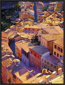35128_FB2_- titled 'Above Siena' by artist Tom Swimm - Wall Art Print on Textured Fine Art Canvas or Paper - Digital Giclee reproduction of art painting. Red Sky Art is India's Online Art Gallery for Home Decor - 762_TR18599