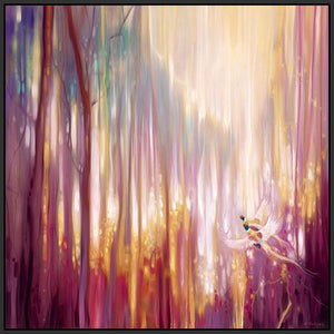 60006_FB2_- titled 'Nebulous Forest' by artist  Gill Bustamante - Wall Art Print on Textured Fine Art Canvas or Paper - Digital Giclee reproduction of art painting. Red Sky Art is India's Online Art Gallery for Home Decor - B4363