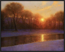 60172_FB2_- titled 'Morning on the Missouri ' by artist  Brent Cotton - Wall Art Print on Textured Fine Art Canvas or Paper - Digital Giclee reproduction of art painting. Red Sky Art is India's Online Art Gallery for Home Decor - C3140