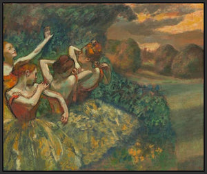 60244_FB2_- titled 'Four Dancers' by artist Edgar Degas - Wall Art Print on Textured Fine Art Canvas or Paper - Digital Giclee reproduction of art painting. Red Sky Art is India's Online Art Gallery for Home Decor - D2493
