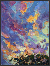 60118_FB2_- titled 'California Sky (top left)' by artist Erin Hanson - Wall Art Print on Textured Fine Art Canvas or Paper - Digital Giclee reproduction of art painting. Red Sky Art is India's Online Art Gallery for Home Decor - H2817