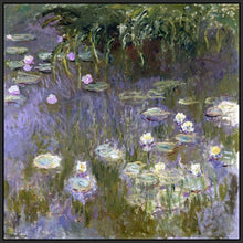 60030_FB2_- titled 'Water Lilies, 1922 ' by artist  Claude Monet - Wall Art Print on Textured Fine Art Canvas or Paper - Digital Giclee reproduction of art painting. Red Sky Art is India's Online Art Gallery for Home Decor - M3061