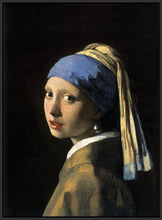 60185_FB2_- titled 'Girl with a Pearl Earring' by artist Jan Vermeer - Wall Art Print on Textured Fine Art Canvas or Paper - Digital Giclee reproduction of art painting. Red Sky Art is India's Online Art Gallery for Home Decor - V108