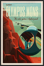 60097_FB2_- titled 'Space X Mars Tourism Poster for Olympus Mons' by artist Vintage Reproduction - Wall Art Print on Textured Fine Art Canvas or Paper - Digital Giclee reproduction of art painting. Red Sky Art is India's Online Art Gallery for Home Decor - V1842