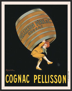 60203_FB2_- titled 'Cognac Pellisson' by artist Vintage Posters - Wall Art Print on Textured Fine Art Canvas or Paper - Digital Giclee reproduction of art painting. Red Sky Art is India's Online Art Gallery for Home Decor - V395