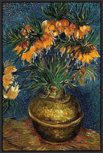 60207_FB2_- titled 'Crown Imperial Fritillaries in a Copper Vase, 1886' by artist Vincent van Gogh - Wall Art Print on Textured Fine Art Canvas or Paper - Digital Giclee reproduction of art painting. Red Sky Art is India's Online Art Gallery for Home Decor - V432
