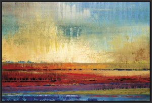 34602_FB3_- titled 'Horizons I' by artist Selina Rodriguez - Wall Art Print on Textured Fine Art Canvas or Paper - Digital Giclee reproduction of art painting. Red Sky Art is India's Online Art Gallery for Home Decor - 761_TR13564