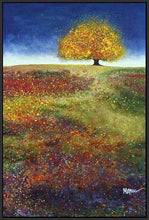 34513_FB3_- titled 'Dreaming Tree In The Field' by artist Melissa Graves-Brown - Wall Art Print on Textured Fine Art Canvas or Paper - Digital Giclee reproduction of art painting. Red Sky Art is India's Online Art Gallery for Home Decor - 761_TR15463