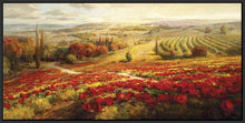 34732_FB3_- titled 'Red Poppy Panorama' by artist Roberto Lombardi - Wall Art Print on Textured Fine Art Canvas or Paper - Digital Giclee reproduction of art painting. Red Sky Art is India's Online Art Gallery for Home Decor - 761_TR3063