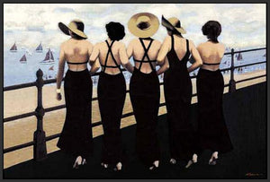 76004_FB3_- titled 'Afternoon on the Boardwalk' by artist  Jacqueline Osborn - Wall Art Print on Textured Fine Art Canvas or Paper - Digital Giclee reproduction of art painting. Red Sky Art is India's Online Art Gallery for Home Decor - 761_TR3885