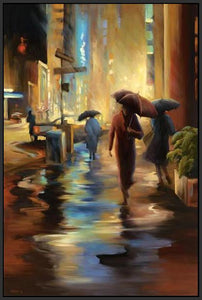 34826_FB3_- titled 'Urban Reflections' by artist Carol Jessen - Wall Art Print on Textured Fine Art Canvas or Paper - Digital Giclee reproduction of art painting. Red Sky Art is India's Online Art Gallery for Home Decor - 761_TR7316