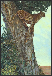 60084_FB3_- titled 'On the Lookout' by artist Kalon Baughan - Wall Art Print on Textured Fine Art Canvas or Paper - Digital Giclee reproduction of art painting. Red Sky Art is India's Online Art Gallery for Home Decor - B1738