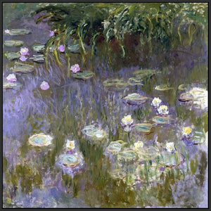 60030_FB3_- titled 'Water Lilies, 1922 ' by artist  Claude Monet - Wall Art Print on Textured Fine Art Canvas or Paper - Digital Giclee reproduction of art painting. Red Sky Art is India's Online Art Gallery for Home Decor - M3061