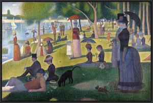 60109_FB3_- titled 'Sunday Afternoon on the Island of Grande Jatte 1864' by artist Georges Seurat - Wall Art Print on Textured Fine Art Canvas or Paper - Digital Giclee reproduction of art painting. Red Sky Art is India's Online Art Gallery for Home Decor - S1615