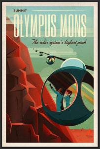60097_FB3_- titled 'Space X Mars Tourism Poster for Olympus Mons' by artist Vintage Reproduction - Wall Art Print on Textured Fine Art Canvas or Paper - Digital Giclee reproduction of art painting. Red Sky Art is India's Online Art Gallery for Home Decor - V1842